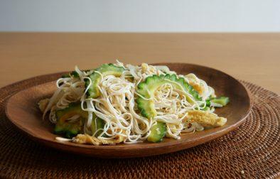 Japanese tofu noodle champuru stirfry とうふそうめん風チャンプルー