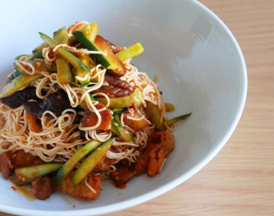 vegan korean-spicy-cold-tofu-noodles ヴィーガンビビン麺